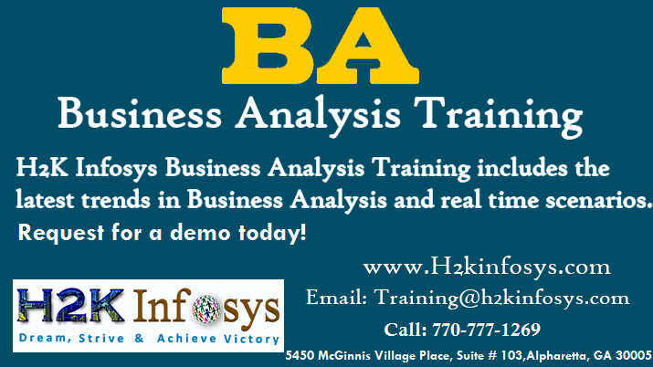 Business Analyst Online Training in USA by H2K