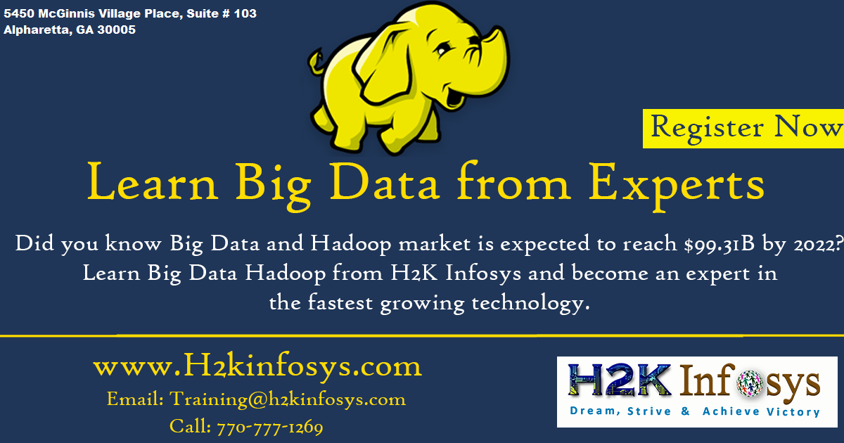 The Best Big Data Hadoop Training in USA